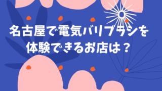 名古屋 電気バリブラシ